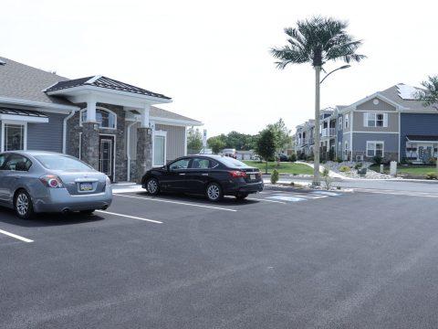 parking lot outside internal medicine physicians office